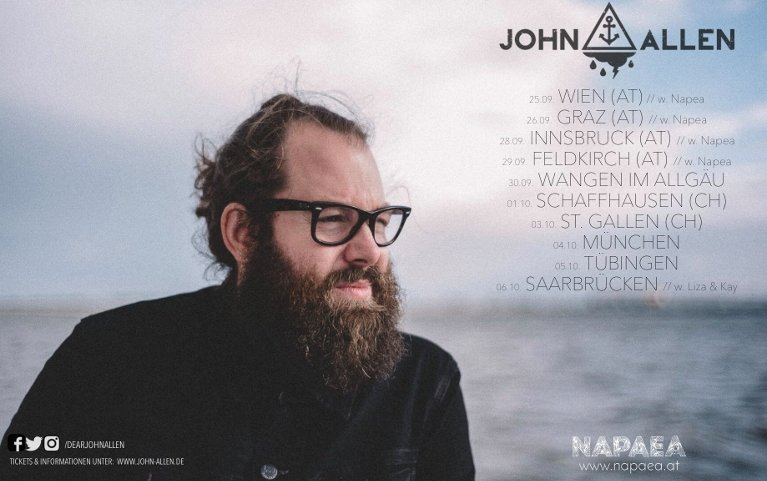 Austria Tour Dates with John Allen